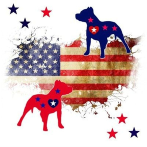 Stars and Stripes Pit Bulls