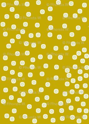 Pewter Pin Dot Patterns on Antique Gold