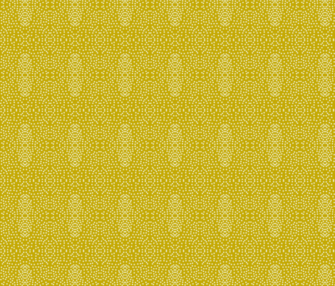 Pewter Pin Dot Patterns on Antique Gold fabric by rhondadesigns on Spoonflower - custom fabric