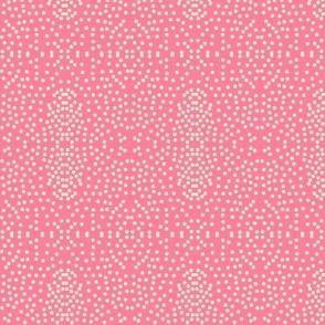 Pewter Pin Dot Patterns on Rose Pink