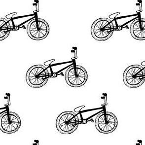 BMX bikes black and white