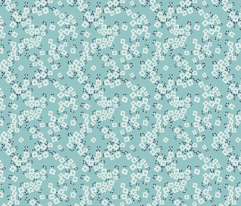 japanese blossom 2 fabric by laura_may_designs on Spoonflower - custom fabric