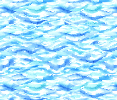 """Aqua waves"" medium scale fabric by happyart on Spoonflower - custom fabric"
