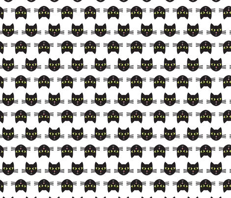 cat faces 1 fabric by laura_may_designs on Spoonflower - custom fabric