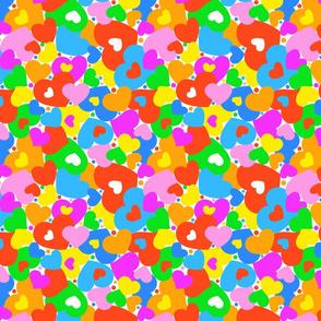 """""""Colored Hearts"""" bright in small scale"""