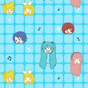 Kawaii Miku & Crew