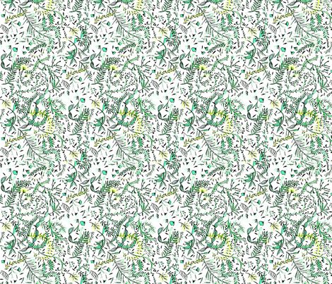 Fern in the French Countryside fabric by bongobaby on Spoonflower - custom fabric
