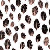 little leaves - blush/black/white