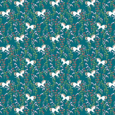 Rrrrrspoonflower_unicorns1_teal_shop_preview