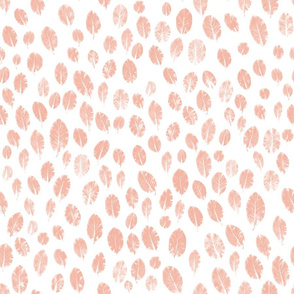 little leaves - blush/white