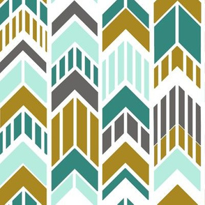 Arrows_Gold_Aqua_Gray_Stripes