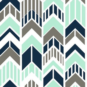 Arrows_Navy_Gray_and_Mint_Stripes