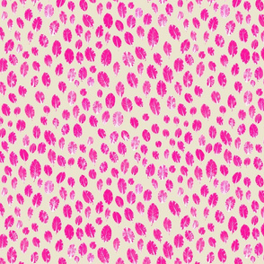 little leaves - hotpink/white/sand