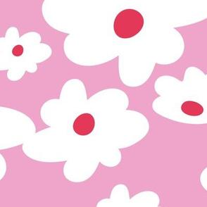 Sweet daisies in pink - BIG