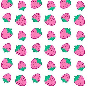 Confetti Strawberries Pink & White