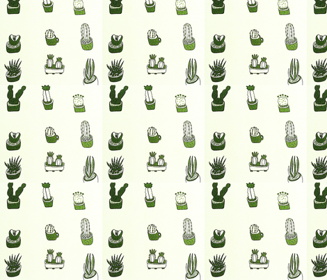 Love Cactus fabric by bongobaby on Spoonflower - custom fabric