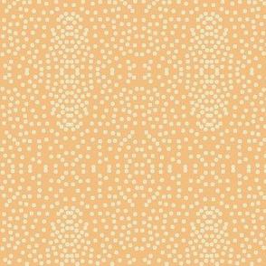 Pewter Pin Dot Patterns on Dusky Apricot