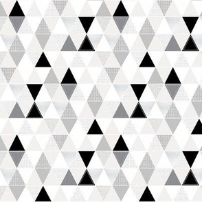 MINI Pattern Play Triangles// gray