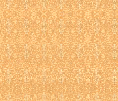 Pewter Pin Dot Patterns on Persimmon fabric by rhondadesigns on Spoonflower - custom fabric