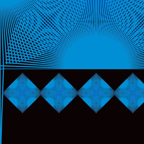 Flower Diamond Lines Design Wall Paper