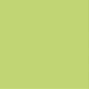 1:6 Gingham 1/4-Inch-Apple Green And White