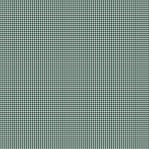 1:6 Gingham 1/4-Inch-Phthalo Green And White