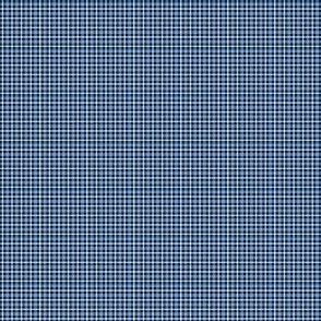 Plaid 1 White On Navy Blue 1:6