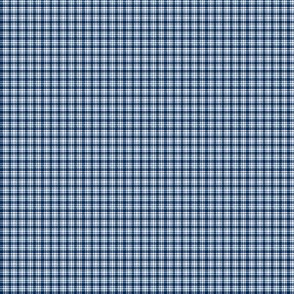 Plaid 6 Navy Blue On White 1:6