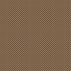1:6 Polka Dots-White On Sepia