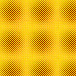 1:6 Polka Dots-Crayon Red On Golden Yellow