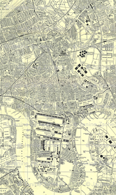 LONDON 1952 Poplar Borough Map