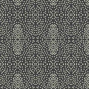 Pewter Pin Dot Patterns on Shadow Grey