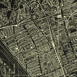 LONDON 1952 Map Negative SMALLER