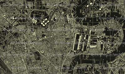 LONDON 1952 Map Negative LARGE