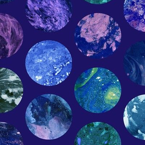 Cosmic Marble Pattern