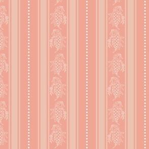 Peach Fancy Stripe