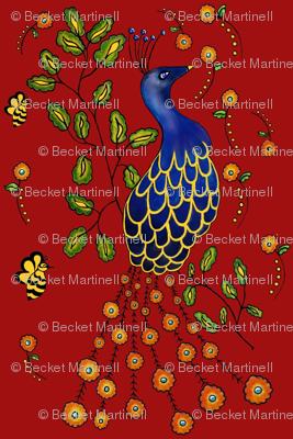 Pfau  Purdy Peacock  dark red
