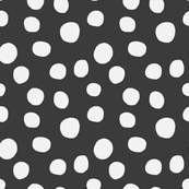 Dots Charcoal- Lg