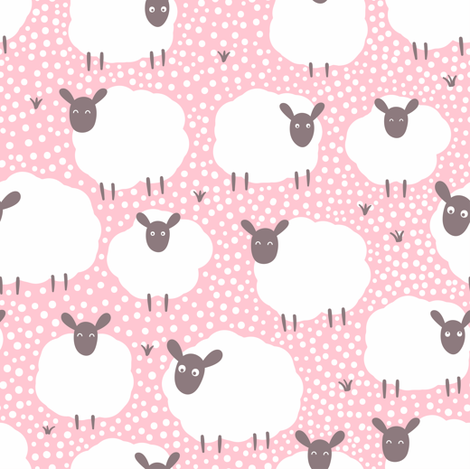 Sheeps fabric by innamoreva on Spoonflower - custom fabric