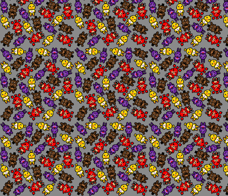 FNAF fabric by burritoprincess on Spoonflower - custom fabric