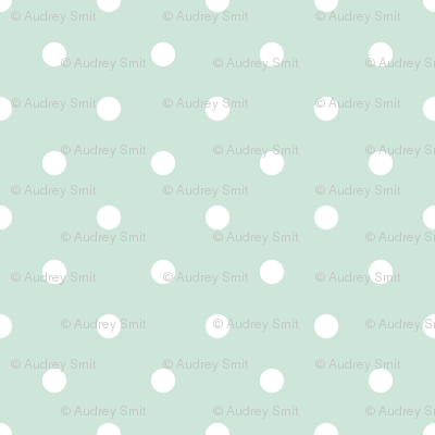 Polka dots in mint - spaced out