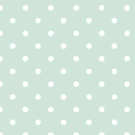 Polka dots in mint - spaced out fabric by thislittlestreet on Spoonflower - custom fabric