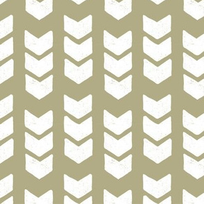 drawn chevron - sage green