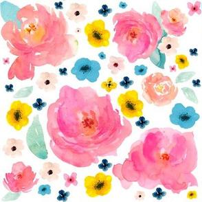 Sorbet Pastel Flowers