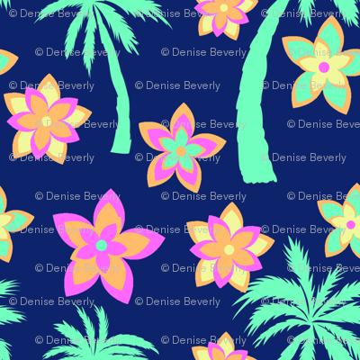 Palm Trees and Flowers Hawaiian Shirt