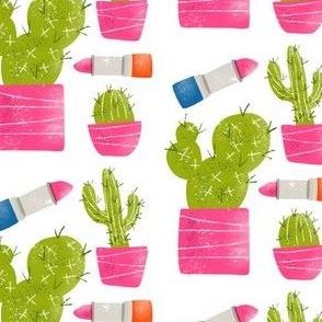 Lipstick and Cactus