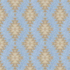 Aztec Stone - Tan in sky blue