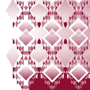 Diamond Design Burgundy & White