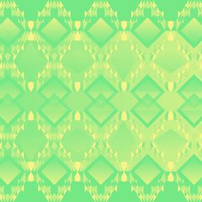 Diamond Design Lemon Green