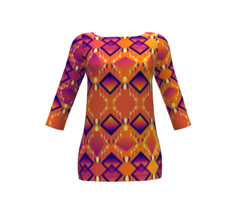 Diamond Design Purple Orange Contrast